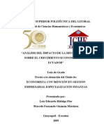 Tesis Analisis de La Deuda Externa Ecuatoriana Su Punto Optimo