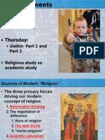 Lecture 3 2014 Religion James