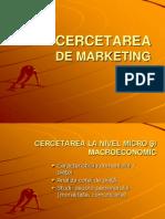 Curs 5 Cercetarea de Marketing