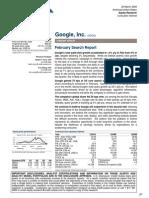 Google Valuation