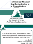Physical & Chemical Means of Controlling Contamination in Plant Tissue