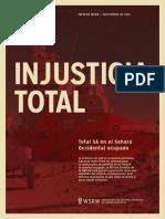 Injusticia Total - Total SA en el SaharaOccidental ocupado (2013)