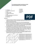 Loose Bulk Density and Swell Factor Measurement