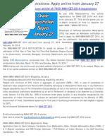 MAH CET 2014 registrations