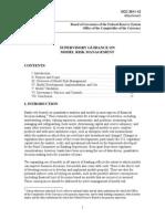 SUPERVISORY GUIDANCE ON MODEL RISK MANAGEMENT - April 4, 2011