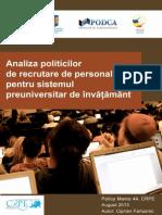 Document 2013 08-19-15405429 0 Studiu Crpe Analiza Politicilor Recrutare Personal Pentru Sistemul Preuniversitar Invatamant