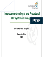 Improvement on Legal and Procedural PPP System in Mongolia