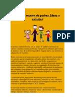 Primera reunión de padres.Ideas y consejos.docx