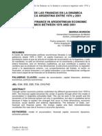 El papel de las finanzas en la dinámica económica argentina entre 1976 y 2001