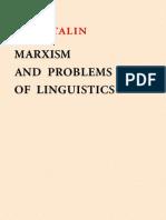 J. V. STALIN MARXISM AND PROBLEMS OF LINGUISTICS