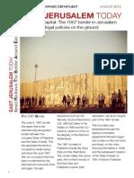 PLO's official position on Jerusalem