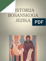 HISTORIJA BOSANSKOGA JEZIKA