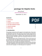 Dejavu font package