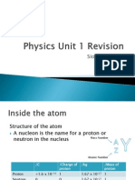 Physics Unit 1 Revision