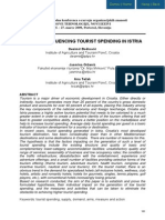 FACTORS INFLUENCING TOURIST SPENDING IN ISTRIA