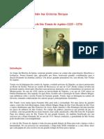 Vida e Obra de Sao Tomas de Aquino