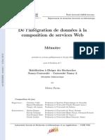 De l Integration de Donnees a La Composition de Services Web