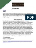 Accademia Della Crusca - Genere Dei Forestierismi - 2011-10-04