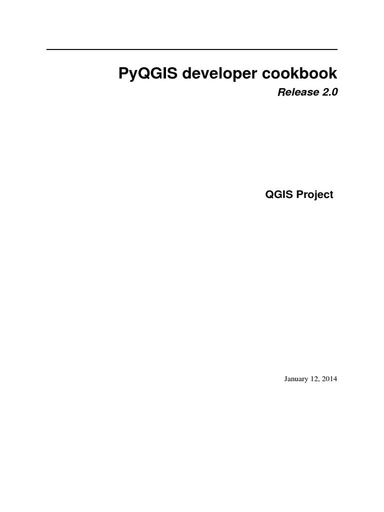 Qgis 20 pyqgisdevelopercookbook en command line interface qgis 20 pyqgisdevelopercookbook en command line interface library computing ccuart Choice Image