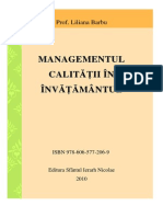 Managementul Calitatii Barbu Liliana