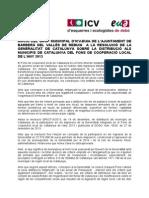 Moció ICV_EUiA Fons Local Cooperació gener14