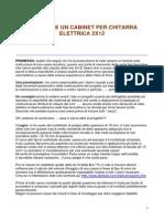 COSTRUIRE UN CABINET PER CHITARRA  ELETTRICA 2X12