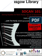 SOCAN 101 Public Information Session With Tim Hardy (ThFeb6 7pm) - New Glasgow Library
