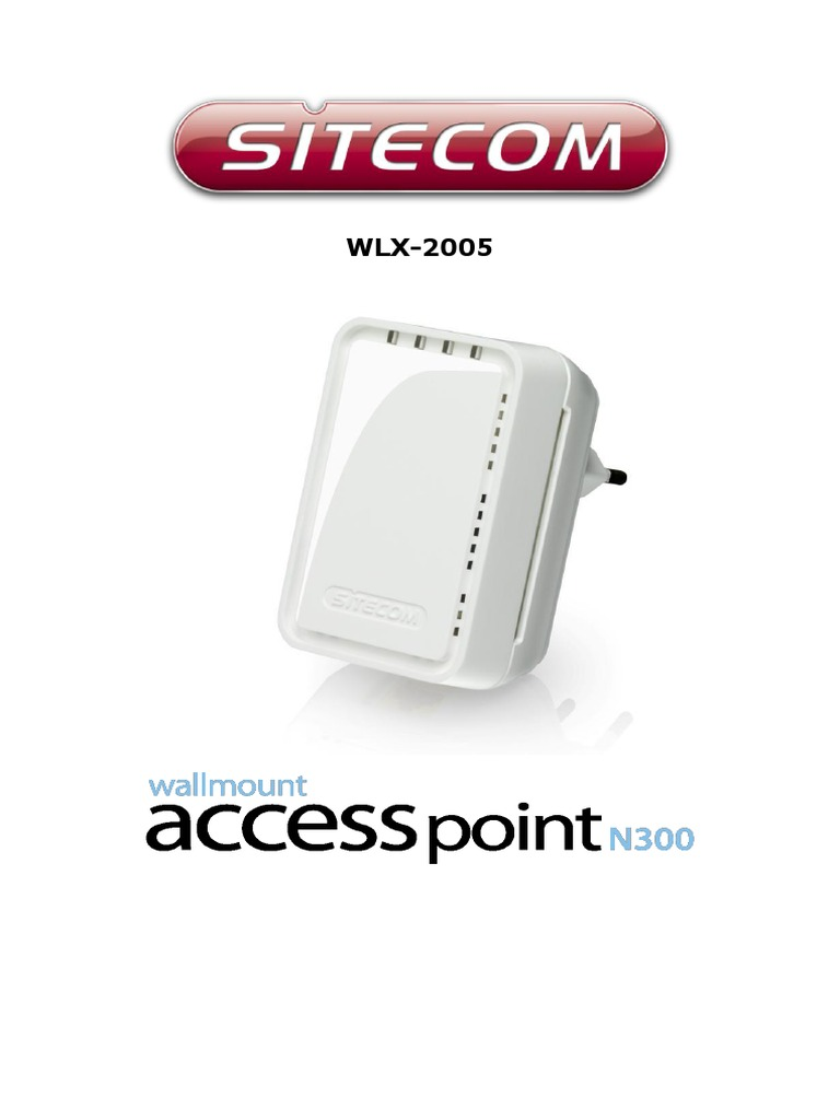 Sitecom WLX | Free Software | Wireless Lan