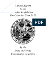 Florida Ethics Commission 2012 Annual Report