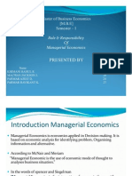 Presentation Managerial Economics