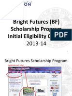 BF Initial Eligibility Requirements 2013-14 Students