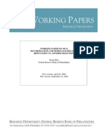 Working Paper No. 09-21 Securitization and Mortgage Default