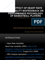 The Effect of Heart Rate Variability Biofeedback On