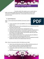 9. Community Action Plan