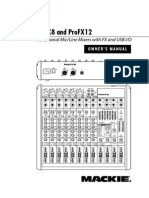 Mackie's pro fx mixer operation manual