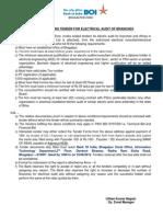 BOI BGP Electrical Audit 2012-2013
