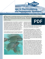 Water Usage in Recirculating Aquaculture/Aquaponic Systems