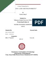 Training and Developme t Skill Gap Analysis Coca Cola