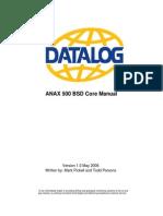 Anax500core Manual