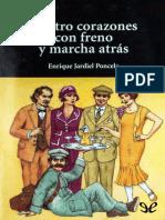 Cuatro corazones con freno y marcha atr�s de Enrique Jardiel Poncela r1.0