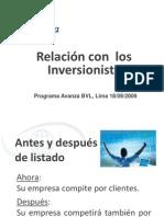 Presentacion Programa Avanza BVL Setiembre 2009