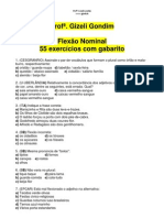 55_EXERCICIOS_COM_GABARITO_FLEXAO_NOMINAL Profª. Gizeli Costa [www.gizeli.tk]