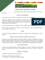 Apostila Assunto Contabilidade - Regitro Contabeis
