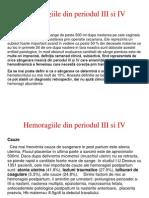 Hemoragiile Din Periodul III Si IV..