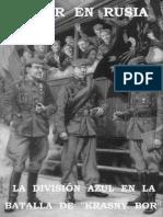 La Division Azul en La Batalla de Krazny Bor - Anonimo