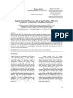 Liquid Crystals Pharmaceutical Application a Review