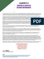 MANIFIESTO Colectivo ANEMOI - Las Fuerzas Armadas Con El Pueblo