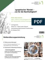 Demographischer Wandel – Chance für die Nachhaltigkeit?