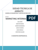 Portafolio de Marketing Internacional