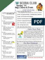 UNCW SCUBA Spring 2014 Newsletter